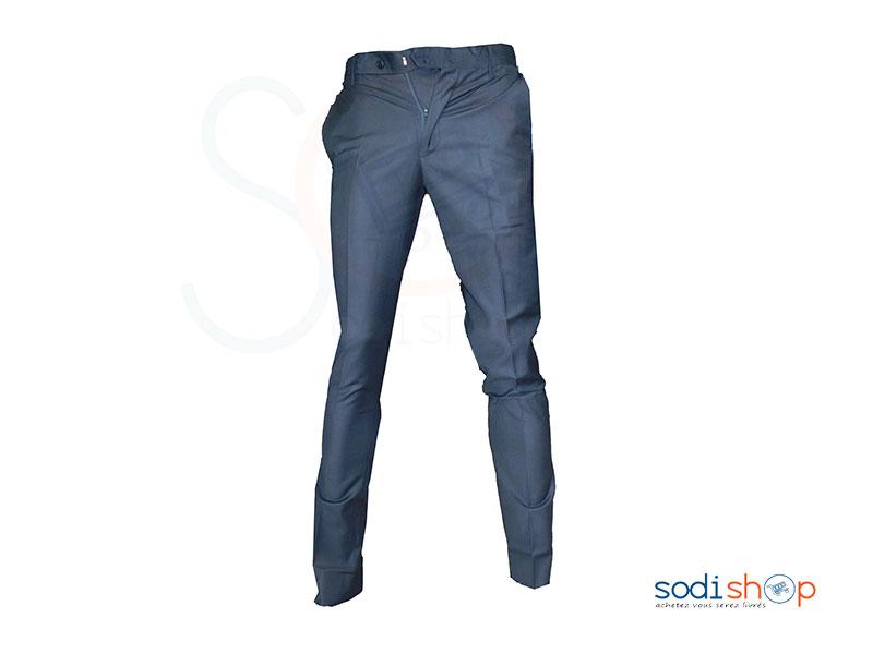 Pantalon en Tissu Pour Homme Couleur Noire