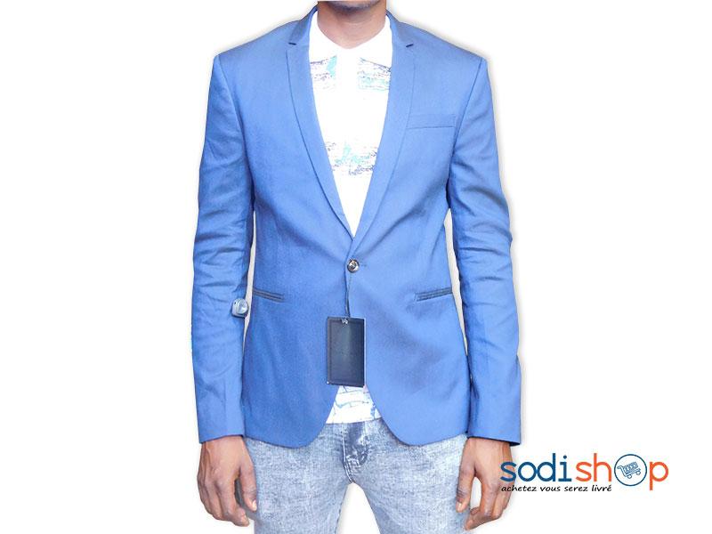 Nouvelle liste Chaussures 2018 forme élégante ZARA, Veste Blazer Pour Homme, Design Chic - Couleur Bleu UN0079