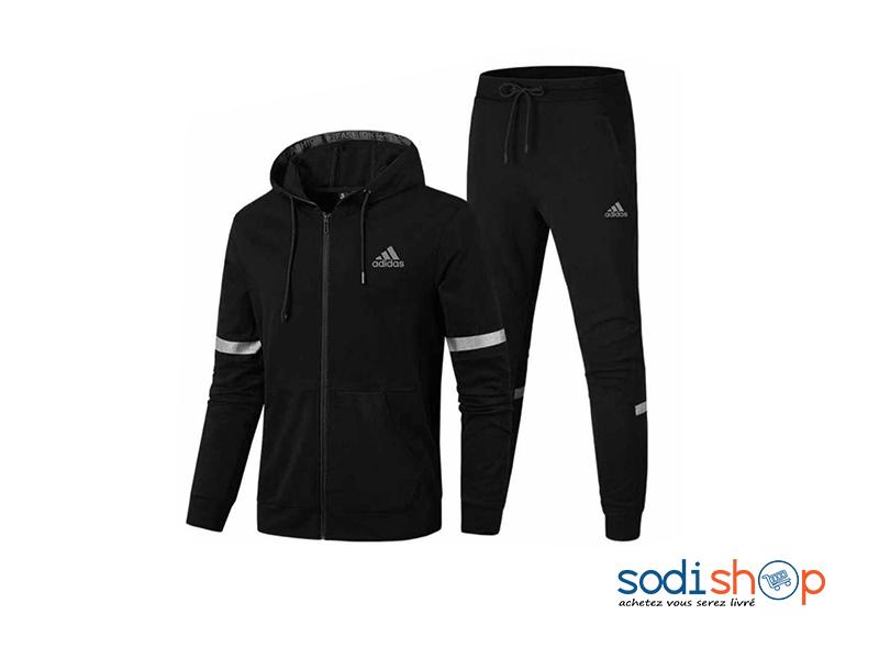 jogging noir adidas