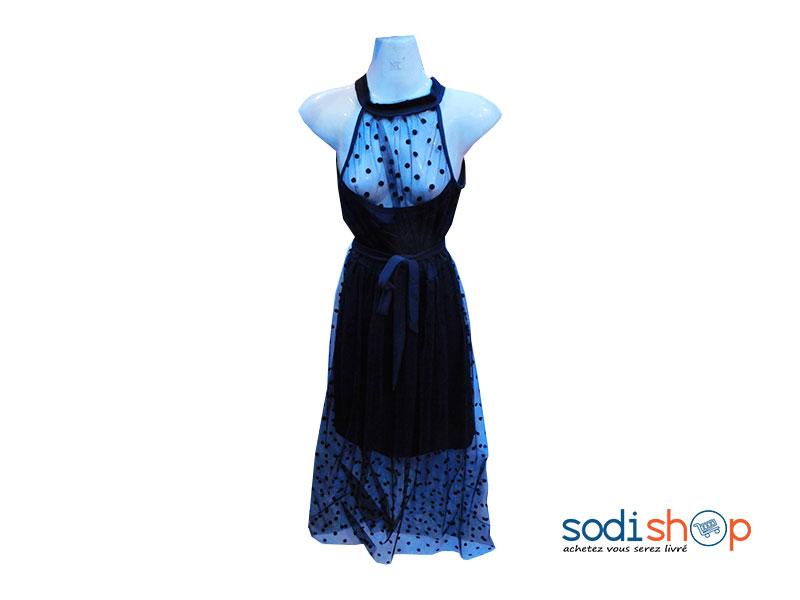 Mini Robe de Soirée Pour Femme Sans Manche Couleur Noire KT00102
